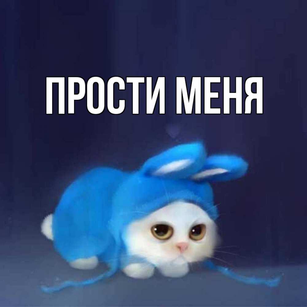 Открытка на каждый день с именем, выберите-имя Прости меня невинный котозай просит прощения Прикольная открытка с пожеланием онлайн скачать бесплатно