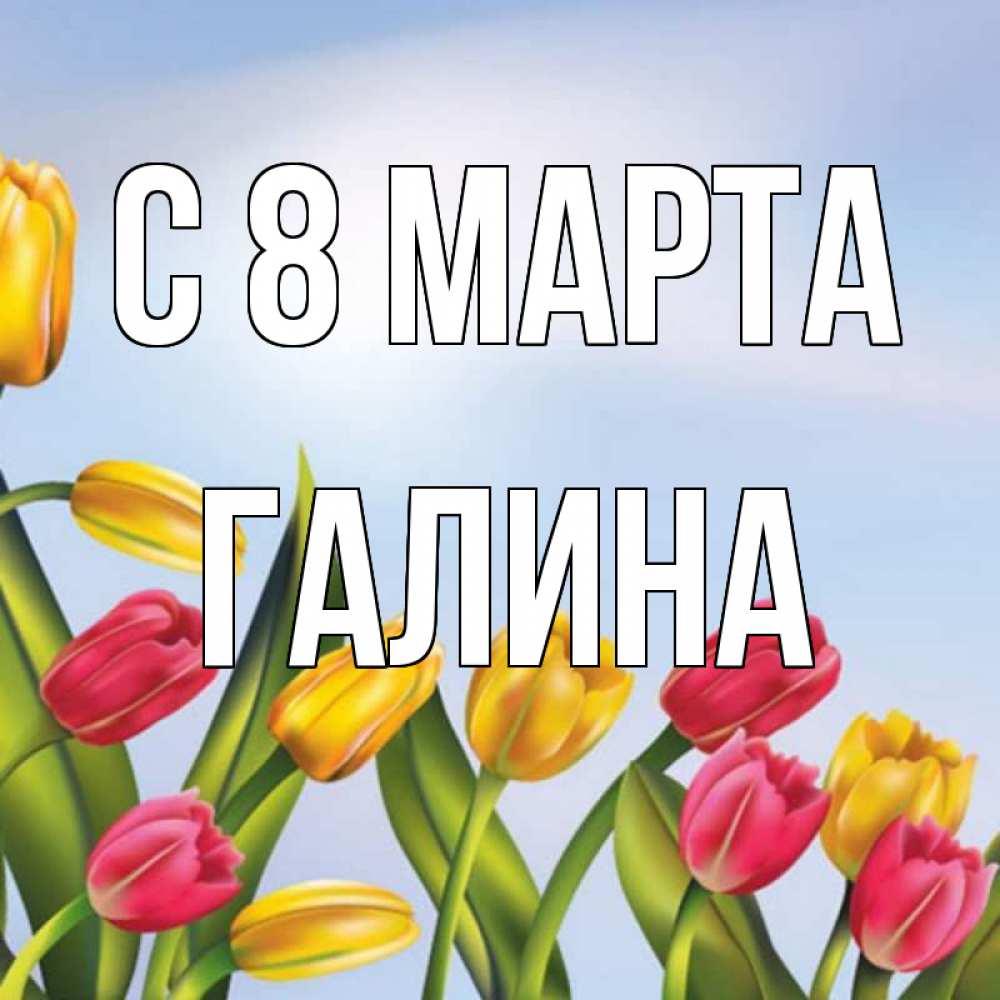 Открытки с 8 марта по имени галина, картинки