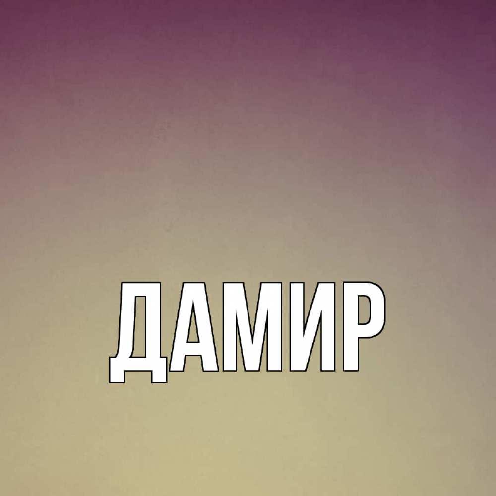 Картинки с именем дамир