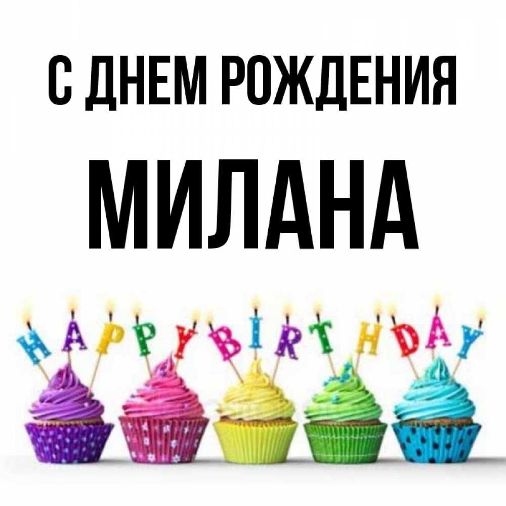 Картинки, открытка с днем рождения милану
