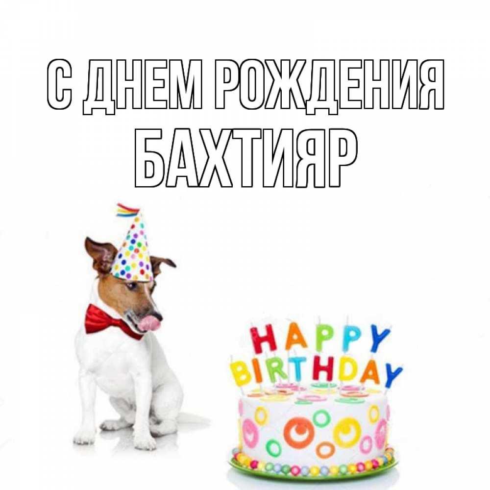 Открытка бахтияр с днем рождения