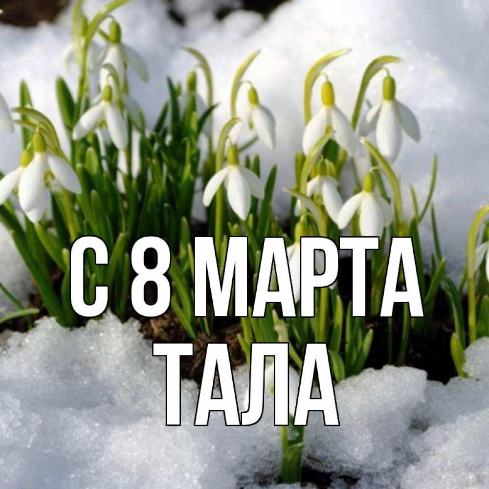 Открытки с подснежником 8 марта