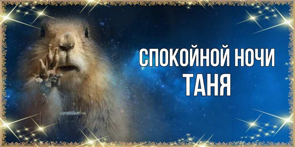 Открытка на каждый день с именем, Таня Спокойной ночи спокойной ночи сладких снов Прикольная открытка с пожеланием онлайн скачать бесплатно
