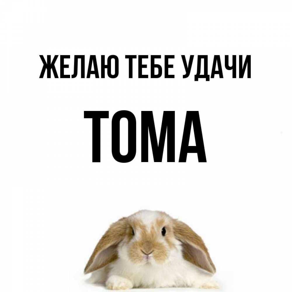 Открытки с именем тома