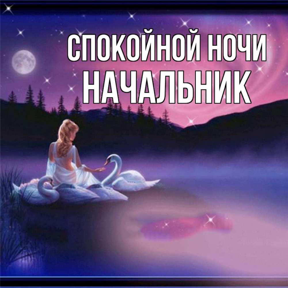 Картинки спокойной ночи начальник