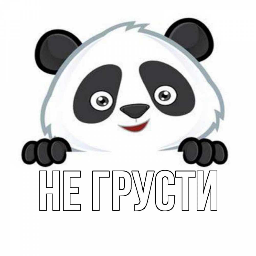 Открытка на каждый день с именем, выберите-имя Не грусти картинки с пандами Прикольная открытка с пожеланием онлайн скачать бесплатно