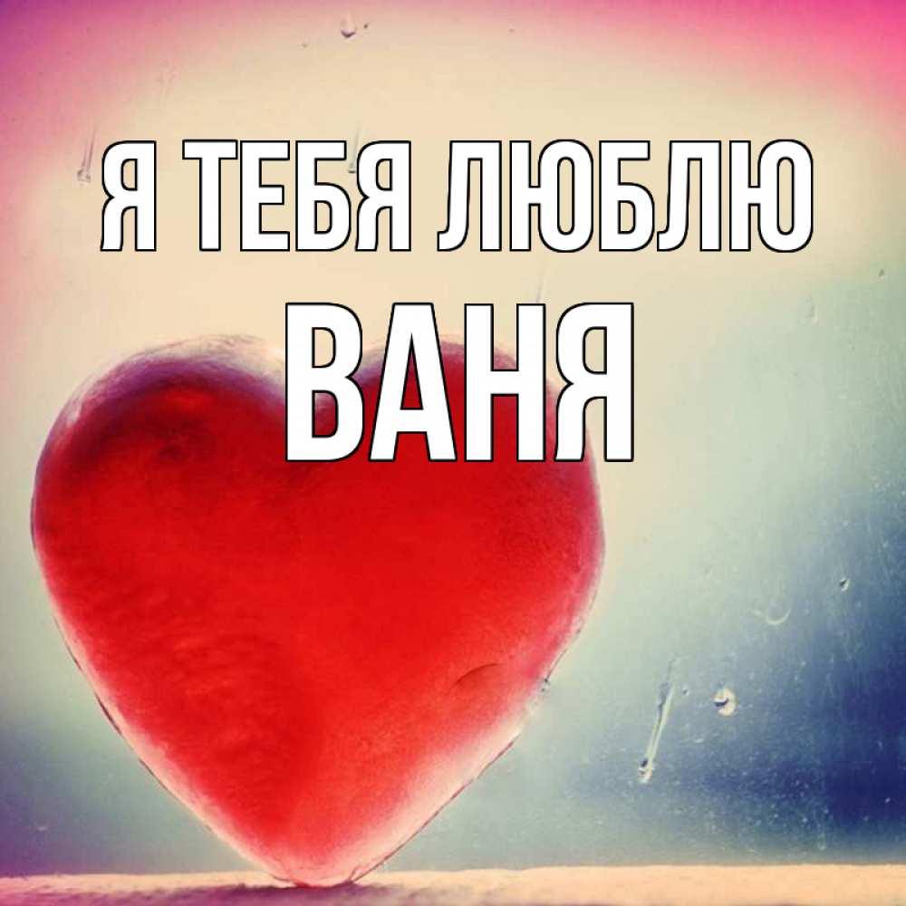 Ваня я тебя люблю картинка