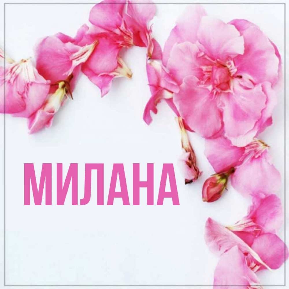 Открытки с именем милана
