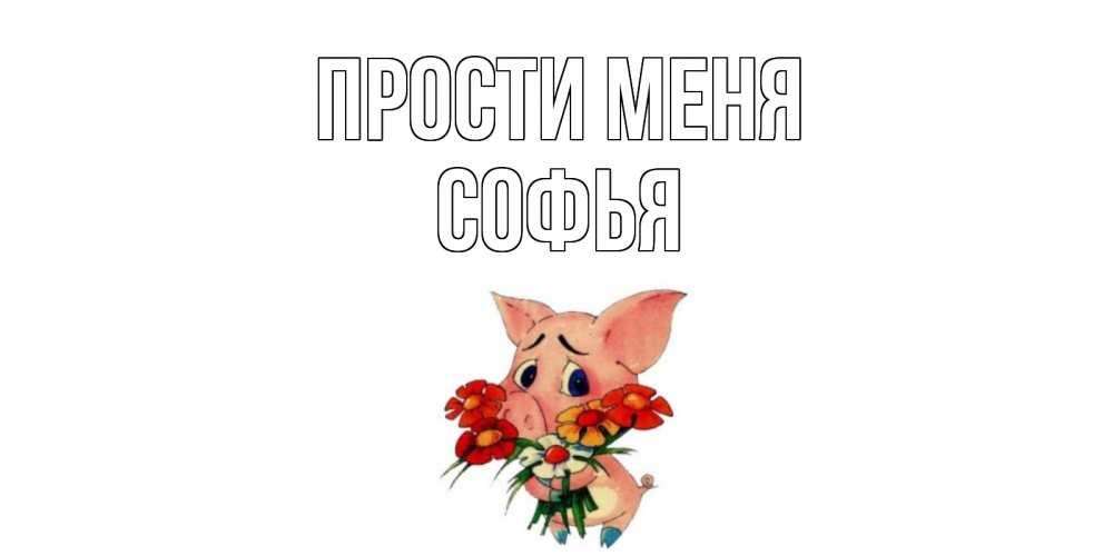 Открытка на каждый день с именем, Софья Прости меня открытка с поросей которая просит прощения Прикольная открытка с пожеланием онлайн скачать бесплатно